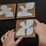 Tablillas de diferentes formas para reconocimiento táctil