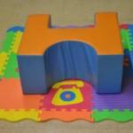 Bloque de goma-espuma para la sedestación en el suelo
