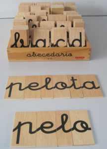 Abecedario de letras móviles (lecto-escritura)
