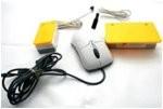 Ratón adaptado con pulsador.