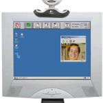 A través de una cámara web y por movimientos de la cara se mueve el cursor en la dirección deseada.