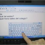 Acceso al teclado con el ratón y predictor de texto